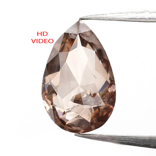0.93 CT Natural Loose Diamond, Pear Diamond, Brown Diamond, Rustic Diamond, Pear Cut Diamond, Fancy Color Diamond, L052