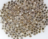 Natural Loose Diamond Round Brown Color SI1 Clarity 1.25 to 1.55 MM 25 Pcs Lot Q30