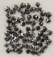 Natural Loose Diamond Old Rose Cut Black Color 2nd Number 1.00 to 2.60 MM Q37
