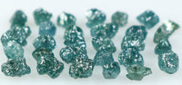 Natural Loose Diamond Rough Drilled Bead Blue Color I3 Clarity 2.00 Ct Lot Q172