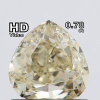 Natural Loose Diamond Heart Fancy Light Yellow Brownish Color GIA CERTIFIED 0.78 Ct L6505 Bkk