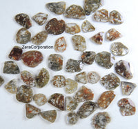 Natural Loose Diamond Rose Cut Faceted Polki Slice Shape Brown Color 4.20 to 8.20 MM 1.00 Ct Q103
