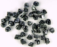 Natural Loose Diamond Rough Black Color 1.80 to 2.50 MM Uncut Drilled Bead 30 Pieces Q101