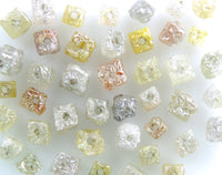 Natural Loose Diamond Drilling Rough Cube Mix Color I3 Clarity 3.00 Ct Lot Q76