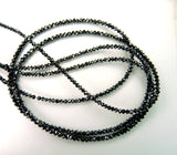 Natural Loose Diamond Bead Round Black Color I3 Clarity 2.00 to 2.80 MM Q67-1