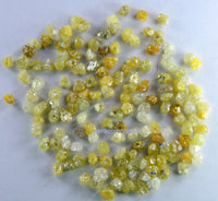 Natural Loose Diamond Rough Bead Yellow Color I3 Clarity 2.00 to 2.50 MM 5.00 Ct Q77-1