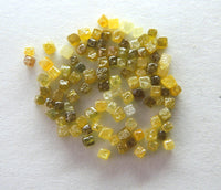 Natural Loose Diamond Undrilled Cube Yellow Brown Mix Color 1 .00 to 1.5 MM 1 .00 Ct Scoop Q127