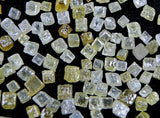 Natural Loose Diamond Undrilled Uncut Cube Shape Fancy Mix Color I2 Clarity 0.80 to 1.20 MM 100 Pcs Lot Q74