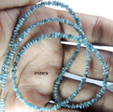 Blue Natural Loose Diamond Uncut Dilled Beads fancy Color 20.65 Ct Q150