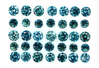 Natural loose Diamond Round Blue Color VS1 SI1 Clarity 2.10 to 2.40 MM 10 Pcs Lot Q25