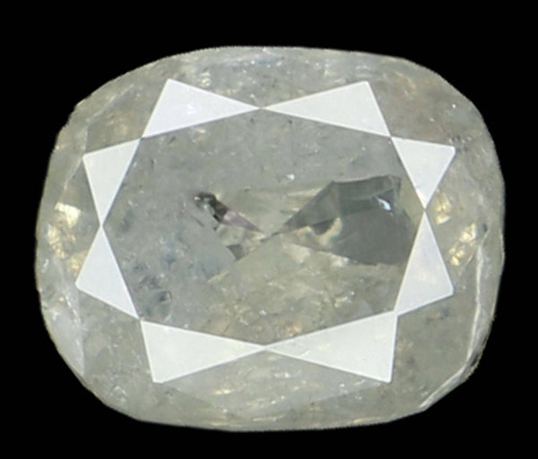 Natural Loose Diamond Cushion Grey Color I3 Clarity 5.40 MM 0.71 Ct L6283