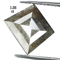 Natural Loose Diamond Kite Gray Color I3 Clarity 7.70 MM 1.05 Ct L6350