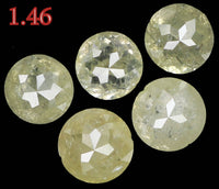 Natural Loose Diamond Round Rose Cut Gray Color I3 Clarity 5 Pcs 1.46 Ct KR1381