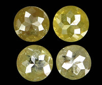 Natural Loose Diamond Round Rose Cut Yellow Color I3 Clarity 4 Pcs 0.73 Ct L6384