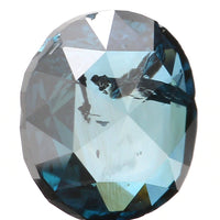 Natural Loose Diamond Oval Blue Color SI2 Clarity 5.30 MM 0.44 Ct L6374