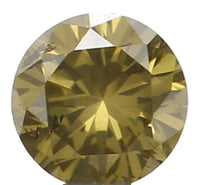 Natural Loose Diamond Round Yellowish Green Color SI1 Clarity 2.23 MM 0.047 Ct KR1371