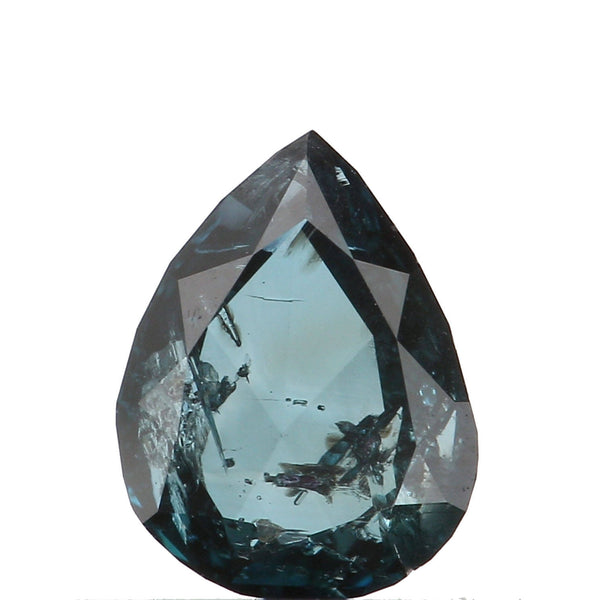Natural Loose Diamond Pear Blue Color I1 Clarity 5.44 MM 0.43 Ct L6460