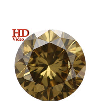Natural Loose Diamond Round Green Color SI2 Clarity 4.10 MM 0.29 Ct L6433