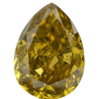 Natural Loose Diamond Pear Yellow Greenish Color SI2 Clarity 6.15 MM 0.54 Ct L6475