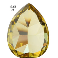 Natural Loose Diamond Pear Green Color SI1 Clarity 6.75 MM 0.67 Ct L6469