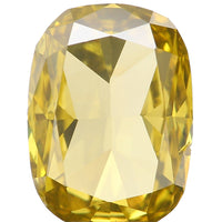 Natural Loose Diamond Cushion Yellow Greenish Color SI1 Clarity 6.40 MM 0.66 Ct L6438