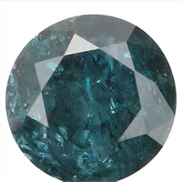 Natural Loose Diamond Round Blue Color I2 Clarity 3.70 MM 0.22 Ct L6435