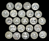 Natural Loose Diamond Round Rose Cut Grey Color I3 Clarity 23 Pcs 2.56 Ct L5127