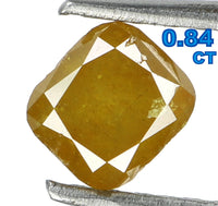 Natural Loose Diamond Cushion Coffee Color I3 Clarity 5.11 MM 0.84 Ct KR689