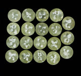 Natural Loose Diamond Round Rose Cut Greenish Grey Color I3 Clarity 19 Pcs 2.06 Ct L5181