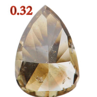 Natural Loose Diamond Pear Greenish Brown SI2 Clarity 5.20 MM 0.32 Ct KR744