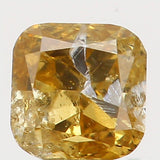 0.15 Ct Natural Loose Diamond Cushion Yellow Coffee Color I1 Clarity 2.80 MM  L5382