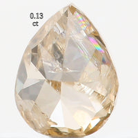 Natural Loose Diamond Pear Brown Orange Color I2 Clarity 3.60 MM 0.13 Ct KR769