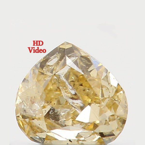 Natural Loose Diamond Heart Yellow Color I2 Clarity 3.00 MM 0.09 Ct KR764