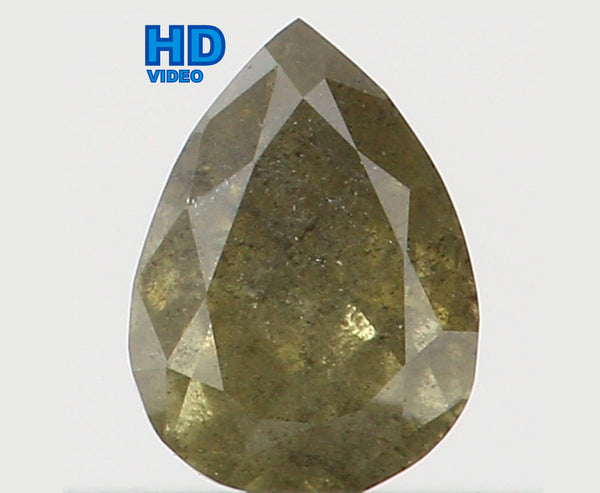 Natural Loose Diamond Pear Green Color I2 Clarity 3.70 MM 0.11 Ct KR766