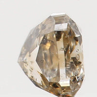 Natural Loose Diamond Cushion Brown Yellow Color I1 Clarity 2.80 MM 0.14 Ct L5412