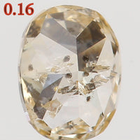 Natural Loose Diamond Oval Orange Color I1 Clarity 3.70 MM 0.16 Ct L5404
