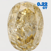 Natural Loose Diamond Oval Orange Yellow Color I2 Clarity 4.10 MM 0.22 Ct KR765