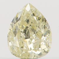 Natural Loose Diamond Pear Yellow Color I1 Clarity 3.80 MM 0.14 Ct KR812