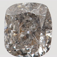 Natural Loose Diamond Cushion Black Gray Salt And Pepper Color I2 Clarity 3.20 MM 0.19 Ct L5614
