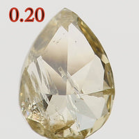 Natural Loose Diamond Pear Yellow Color I1 Clarity 4.30X3.10X1.90 MM 0.20 Ct L5503