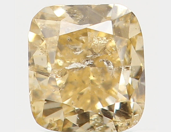 Natural Loose Diamond Cushion Orange Yellow Color I2 Clarity 3.00 MM 0.18 Ct L5599