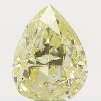 Natural Loose Diamond Pear Yellow Color I2 Clarity 4.00 MM 0.17 Ct L5589