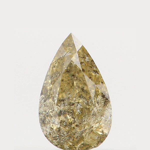Natural Loose Diamond Pear Yellow Color I2 Clarity 4.20 MM 0.13 Ct KR874