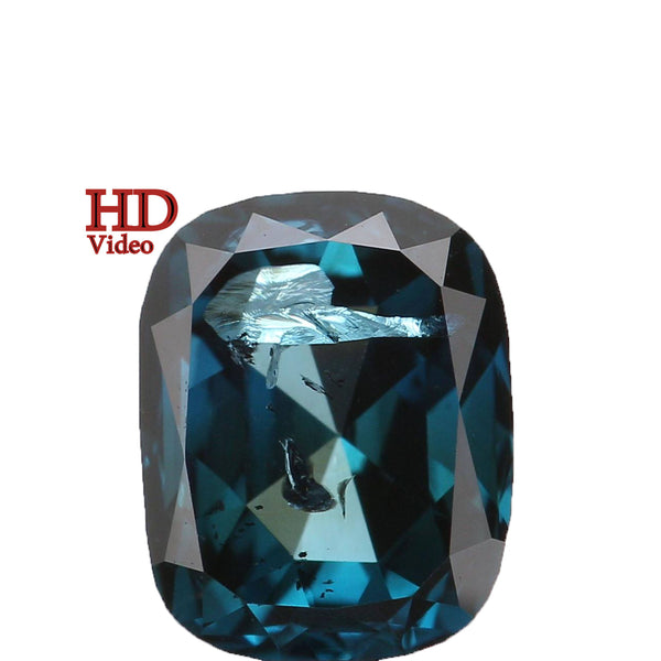 Natural Loose Diamond Cushion Blue Color SI2 Clarity 5.30 MM 0.56 Ct L6179
