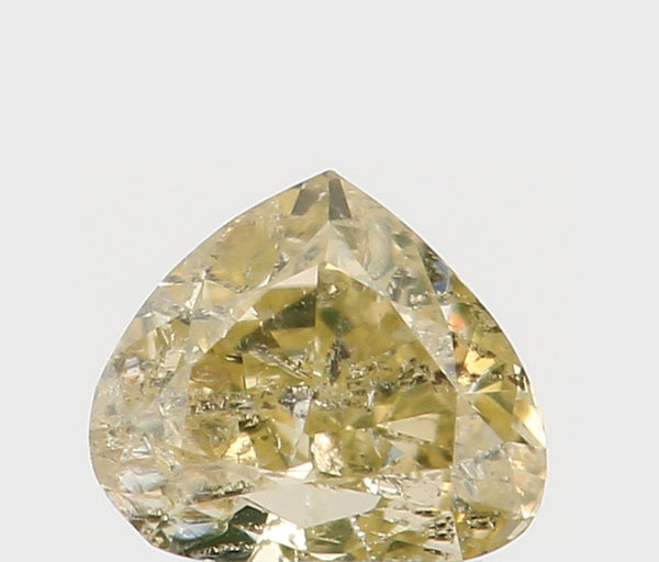 Natural Loose Diamond Heart Yellow Color I1 Clarity 3.50 MM 0.14 Ct KR871