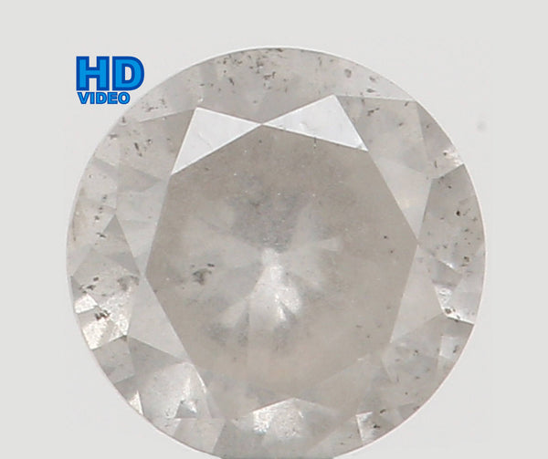 Natural Loose Diamond Round White Milky Color I1 Clarity 3.40 MM 0.15 Ct L6190