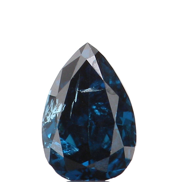 Natural Loose Diamond Pear Blue Color SI2 Clarity 3.80 MM 0.12 Ct KR899