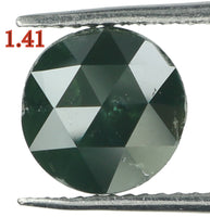 Natural Loose Diamond Round Rose Cut Green Color I3 Clarity 6.90 MM 1.41 Ct KR890