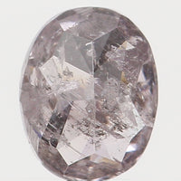 Natural Loose Diamond Oval Pink Color I2 Clarity 4.25 MM 0.29 Ct L6377