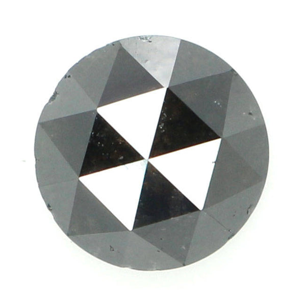 Natural Loose Diamond Round Rose Cut Black Grey Color I3 Clarity 6.50 MM 1.48 Ct KR909